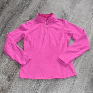 The North Face 1/4 Zip Pullover Fleece Dark Pink